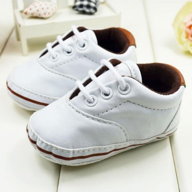 0-18M Baby Infant Crib Shoes Toddler Soft Sole Pram Prewalker Unisex  Leather Sneakers Shoes