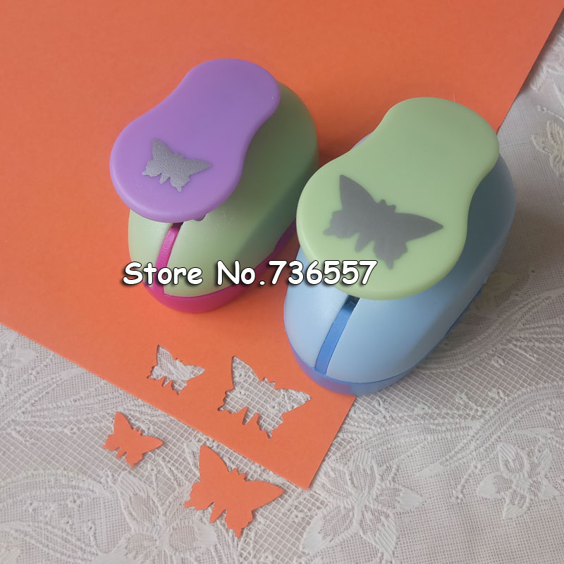 Free Shipping 2pcs(2.5cm,1.5cm) Butterfly Shape Craft Punch Set Punch Craft Scrapbooking School Paper Puncher Eva Hole Punch