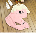 baby girls winter clothing set kids o-neck long sleeve patchwork hoodies and pant 2pcs toddler girl cute casual clothes children