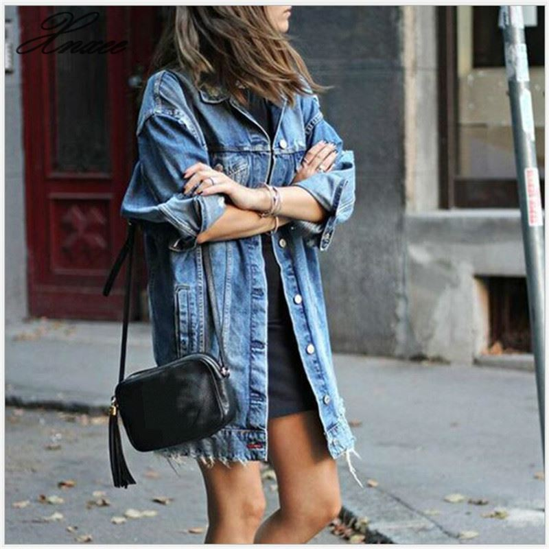 New Denim Jackets Women Jean Jacket Loose Spring Autumn Jeans Coats
