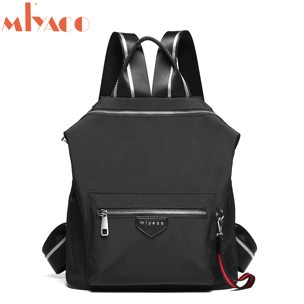 MIYACO Casual Nylon Backpacks for Women Small Travel Backpack bags School Bag for Girls 14