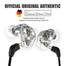 New QKZ VK1 4DD In Ear Earphone HIFI DJ Monito Running Sport Earphone Hybrid Headset Bass Earbuds With Mic Replaced Cable(China)