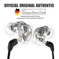 New QKZ VK1 4DD In Ear Earphone HIFI DJ Monito Running Sport Earphone Hybrid Headset Bass
