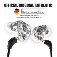 New QKZ VK1 4DD In Ear Earphone HIFI DJ Monito Running Sport Earphone Hybrid Headset Bass