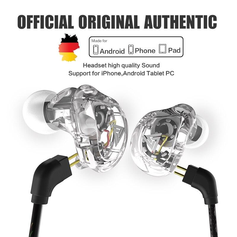 Nuovo QKZ VK1 4DD In Ear Auricolare HIFI DJ Monito esecuzione Sport Auricolare Hybrid Auricolari Auricolare Bassi Con Il Mic Sostituito cavo