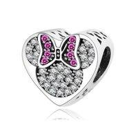 Fit Original Pandora Charm Bracelet 100 925 Sterling Silver Mickey MinnieCharm Beads DIY Jewelry Making Berloque