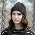 Lady Winter Warm Knitting Hat Women Fashion Winter Knitting Caps Female Warm Thick Kraft Korean Cap New Year Gift B-4571