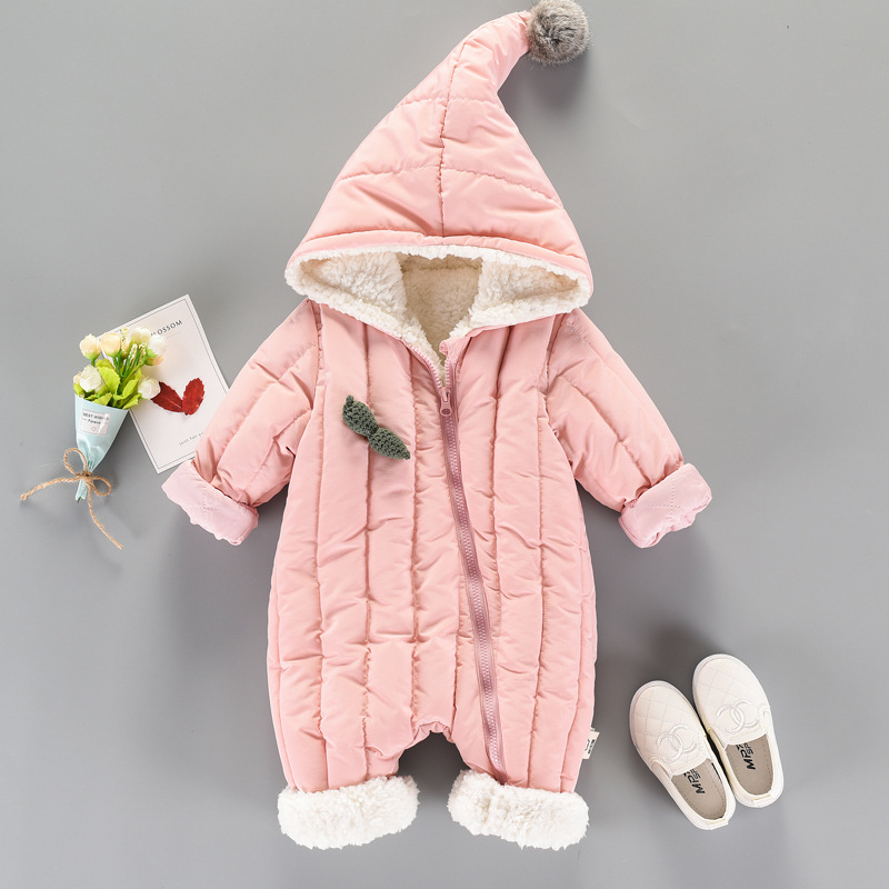 Infant Baby Boys Girls Rompers Toddler Clothes 2018 Winter Cashmere Thickening Warm Kids Clothing Children Baby Costume hsp154 6m 3years baby winter overall toddler warm velvet bear hooded rompers infant long pants kids girls boys jumpsuit pink blue