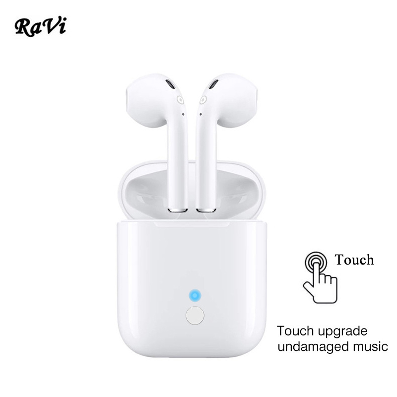 все цены на RAVI Bluetooth 5.0 Touch Wireless Earphones Stereo Earbuds Tws Sports Earphone Bluetooth Headset not Air Pods For Android iPhone онлайн
