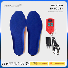 Electric Heated Insoles With Intelligent Remote Control Thermal Heating Insoles USB Charge Keep Warm Winter Boots Shoes Insole