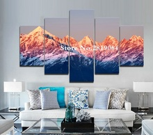 Фотография Unframed Modern wall art canvas print painting Mountain landscape picture for home decor living room wall art canvas prints