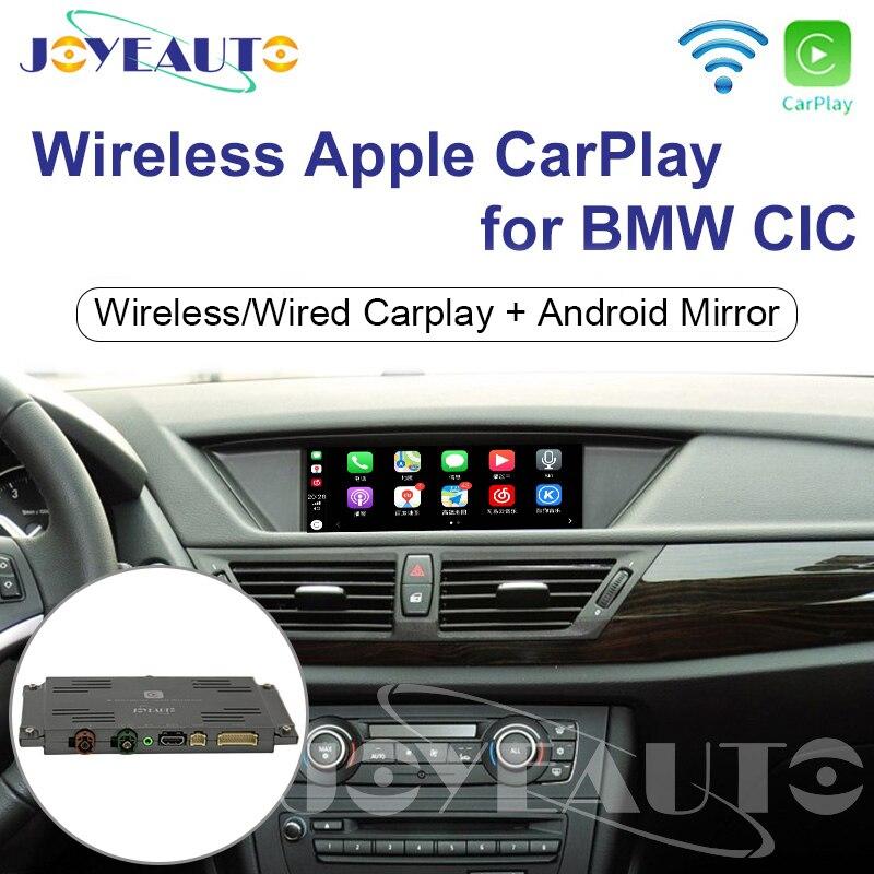 Joyeauto wifi sem fio apple carplay para bmw cic 6.5 8.8 10.25 polegada 1 3 5 6 7 series x1 x3 x5 x6 2009-2013 android jogo de carro automático