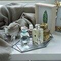 Скандинавский стиль Ins винтажная золотая ювелирная тарелка старое серебро Ювелирная витрина настольная простая декоративная подставка ор...