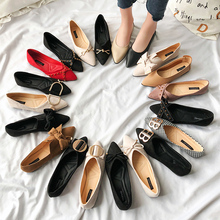 цены basic flat shoes women flats mujer Female 2019 spring new flat gentle fairy loafers Slip foot woman toe casual shoes Butterfly