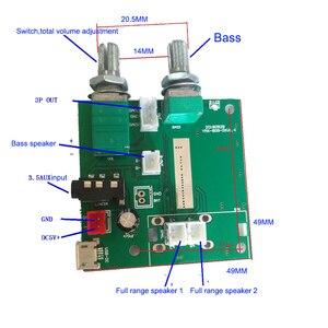 Image 2 - Bluetooth 5,0 Subwoofer verstärker 5W * 2 + 10W stereo digital verstärker bord 5V3A mit bass einstellung