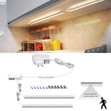 2PCS PIR Motion Sensor LED Light Tube + 1 Power Supply EU Plug 220V To 12V Kitchen Cabinet Wardrobe Accessories Closet Lamp(China)