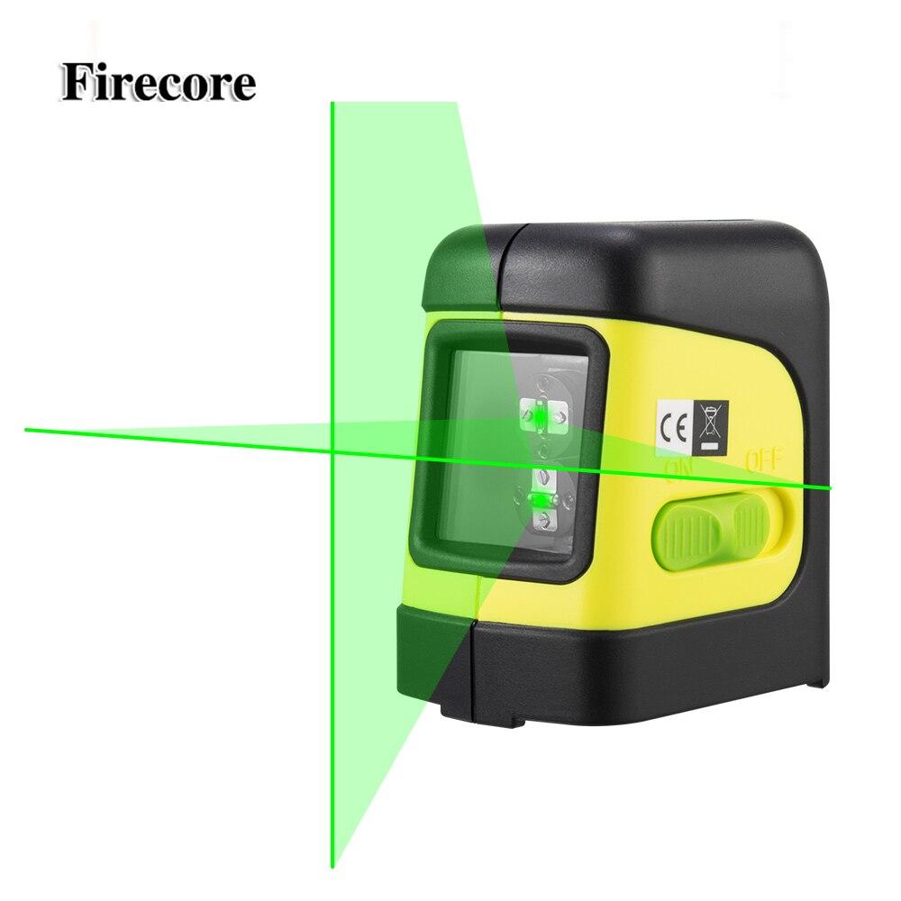 Firecore F112G 2 Linee di Livello Laser Verde di Auto Livellamento (4 gradi) orizzontale e Verticale Cross-Linea di Mini Laser