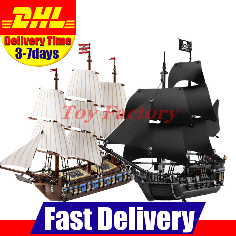 LEPIN 22001 Imperial Warships  + 16006 Black Pearl Ship Model Building Blocks For children Pirates Series Toys Clone 10210 4184 lepin 22001 pirates series the imperial war ship model building kits blocks bricks toys gifts for kids 1717pcs compatible 10210