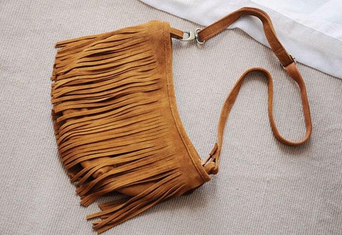 genuine leather fringe tassel bags women shoulder crossbody bag women's handbags bag (11)