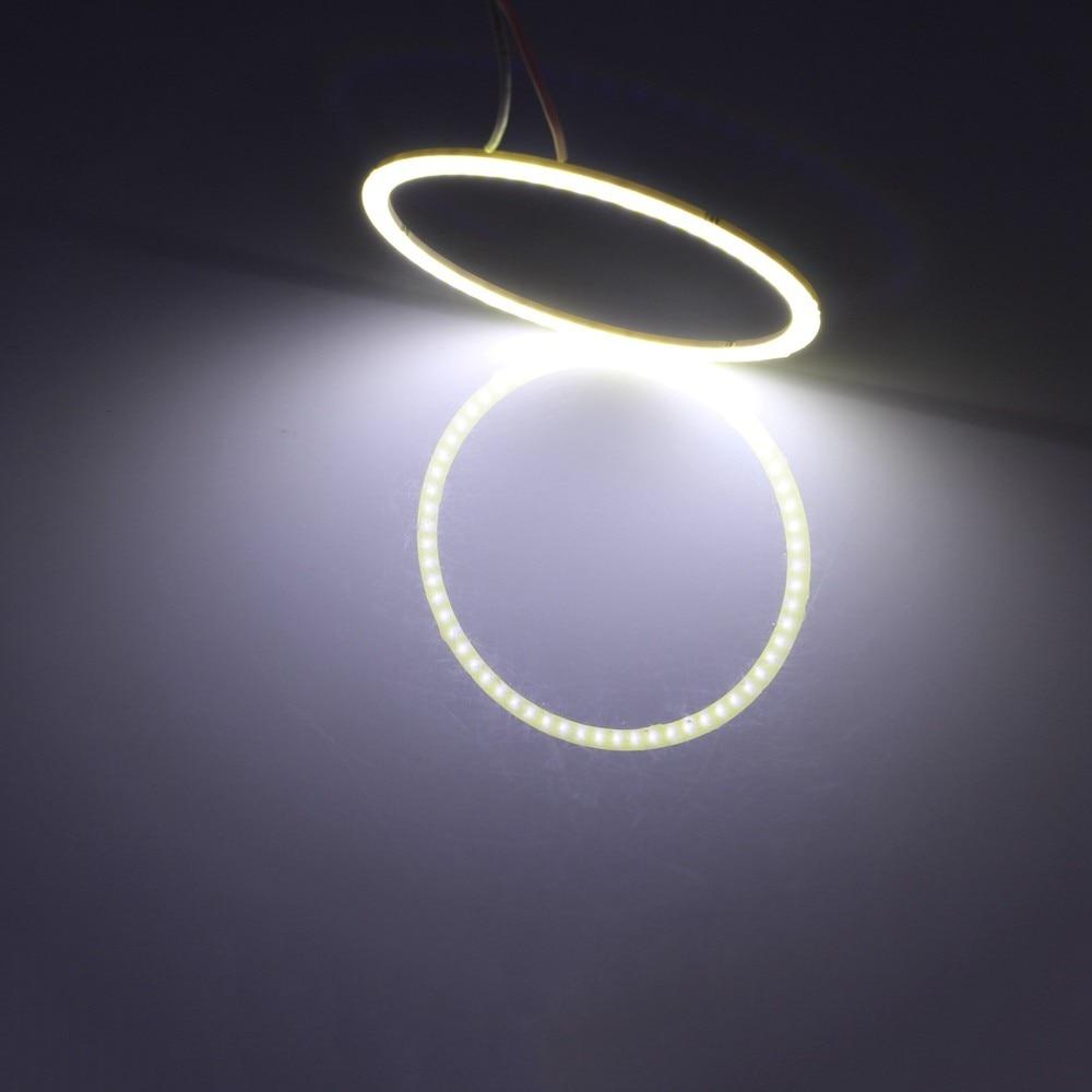 2 db (1 pár) automatikus halogó gyűrűk COB 70MM Angel Eye 12V 24V - Autó világítás - Fénykép 5