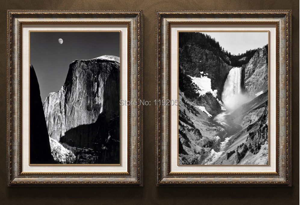Photography black and white picture landscape canvas for Black and white mural prints