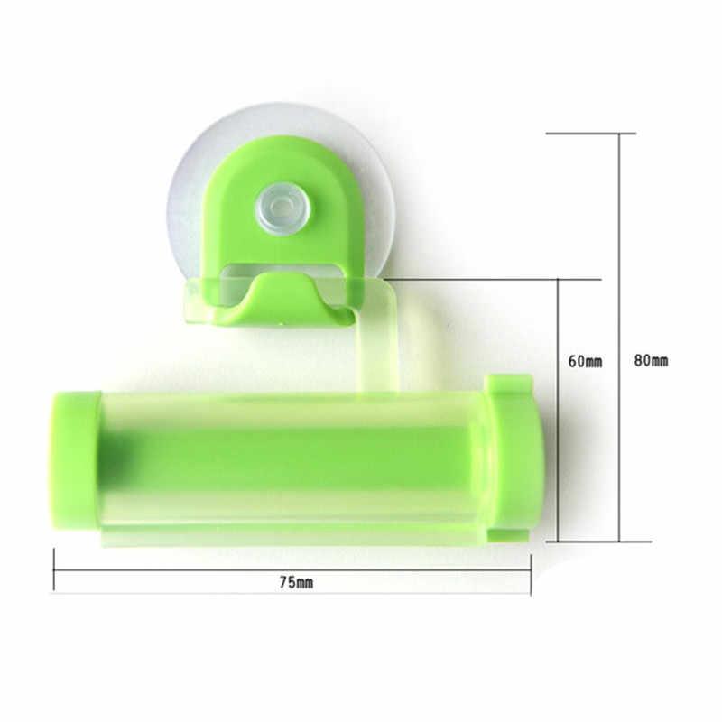 Plastikowa tubka do zgniatania przydatna pasta do zębów łatwe dozownik łazienka uchwyt do pasty do zębów akcesoria łazienkowe