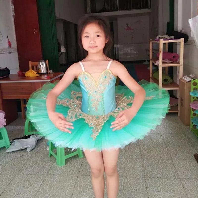 white green professional ballet tutu child swan professional tutu kids ballet tutu dress girl ballett