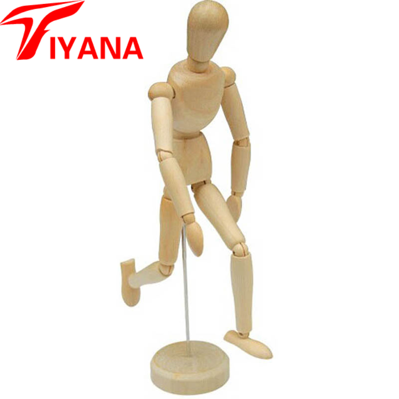2 styles 20 cm 30 cm Cute small dolls wooden male artist manikin handmade home decoration Hand Blockhead Puppet cartoon doll