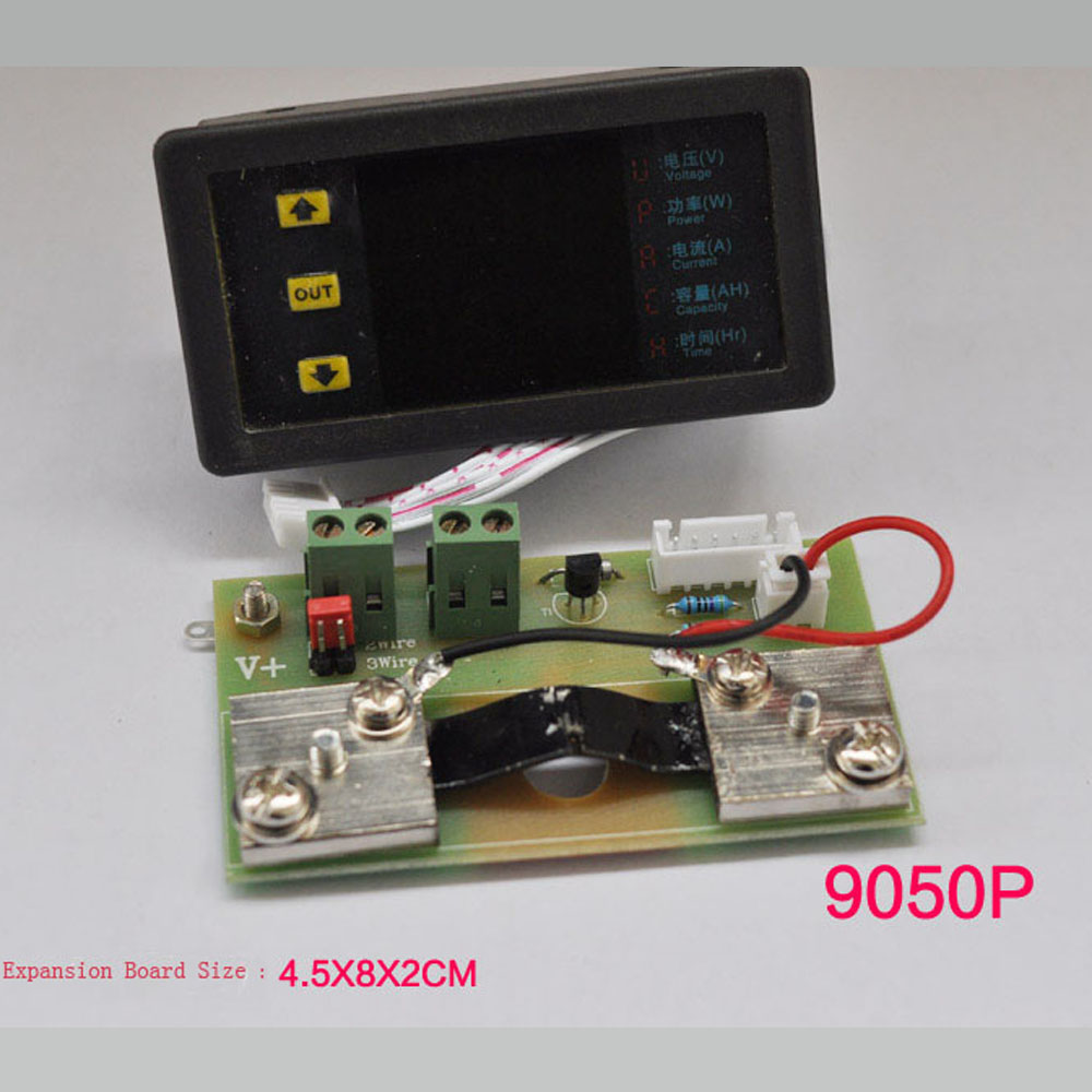 VAM 9050P voltammeter monitor output voltage and current and also battery charge and discharg 0 ~ 50A 0 ~ 90V/10V ~ 90V