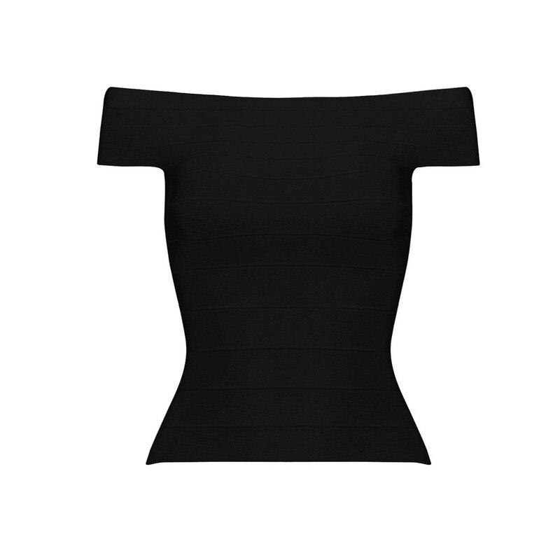 Летние сексуальные женские трикотажные колготки с вырезом лодочкой, бандажный Топ знаменитостей из вискозы, синий, черный, красный цвета - Цвет: Черный