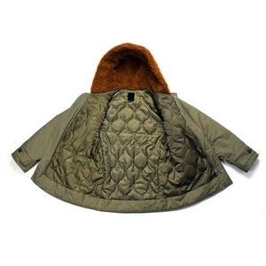 Image 5 - Repro US Army B 11 abrigo largo de algodón para hombre, Parka, verde, uniforme militar Vtg
