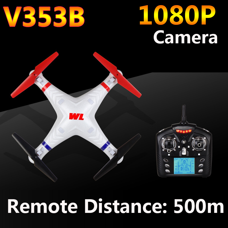 WLtoys V353B 4CH 6 Axis Gyro RC Quadcopter with Headless Mode Drone Remote Distance 500M WL