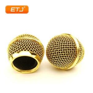 Image 1 - Mikrofon Relacement polerowane złoto głowica kulowa siatka 2 szt. Kratka mikrofonu pasuje do shure sm 58 sm 58sk beta 58 beta58a