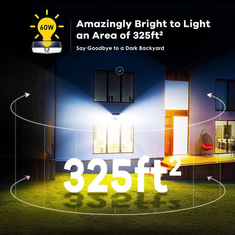 Mpow CD174 3 Adjustable Light Model 66 LED Bright Solar Powered Outdoor Lights (1)