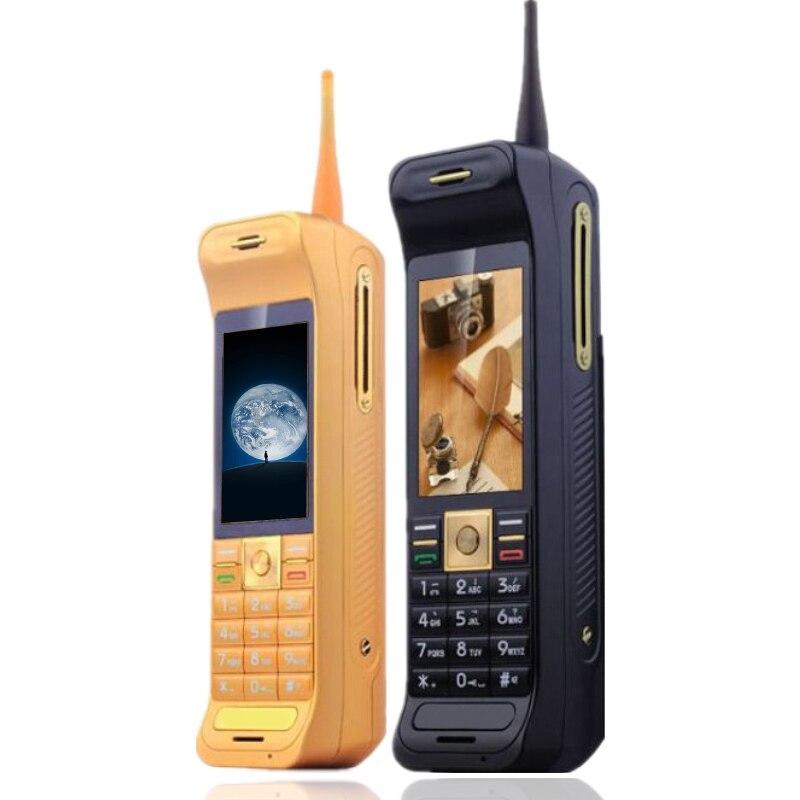 Rétro stlye antenne bon signal écran tactile puissance banque Extraverti FM bluetooth lampe de poche GPRS liste noire mobile téléphone P185