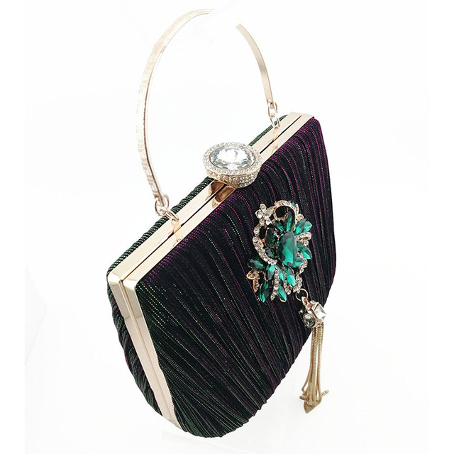 Italian Ladies Matching Shoe and Bag Material with Crystal Nigerian Shoes and Bags Set for Party Women Shoe and Bag To Match