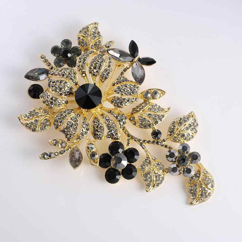 Flowder Brooch High Archives Big Size Botany Flower Brooch Popular Ornaments Clothing Accessories Wedding Brooch 11.3*8.5cm