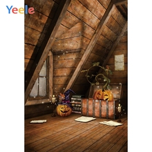 Yeele Interior Halloween Party Wooden House Portrait Photography Backdrops Personalized Photographic Background For Photo Studio