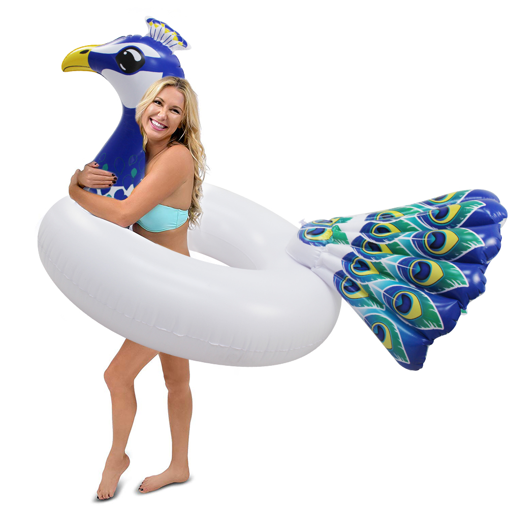 Swimming Swimming Rings Frank 156cm Giant Peacock Tube Inflatable Swimming Ring 2019 Newst Pool Float Water Floats For Adult Summer Party Toys Air Mattress To Clear Out Annoyance And Quench Thirst