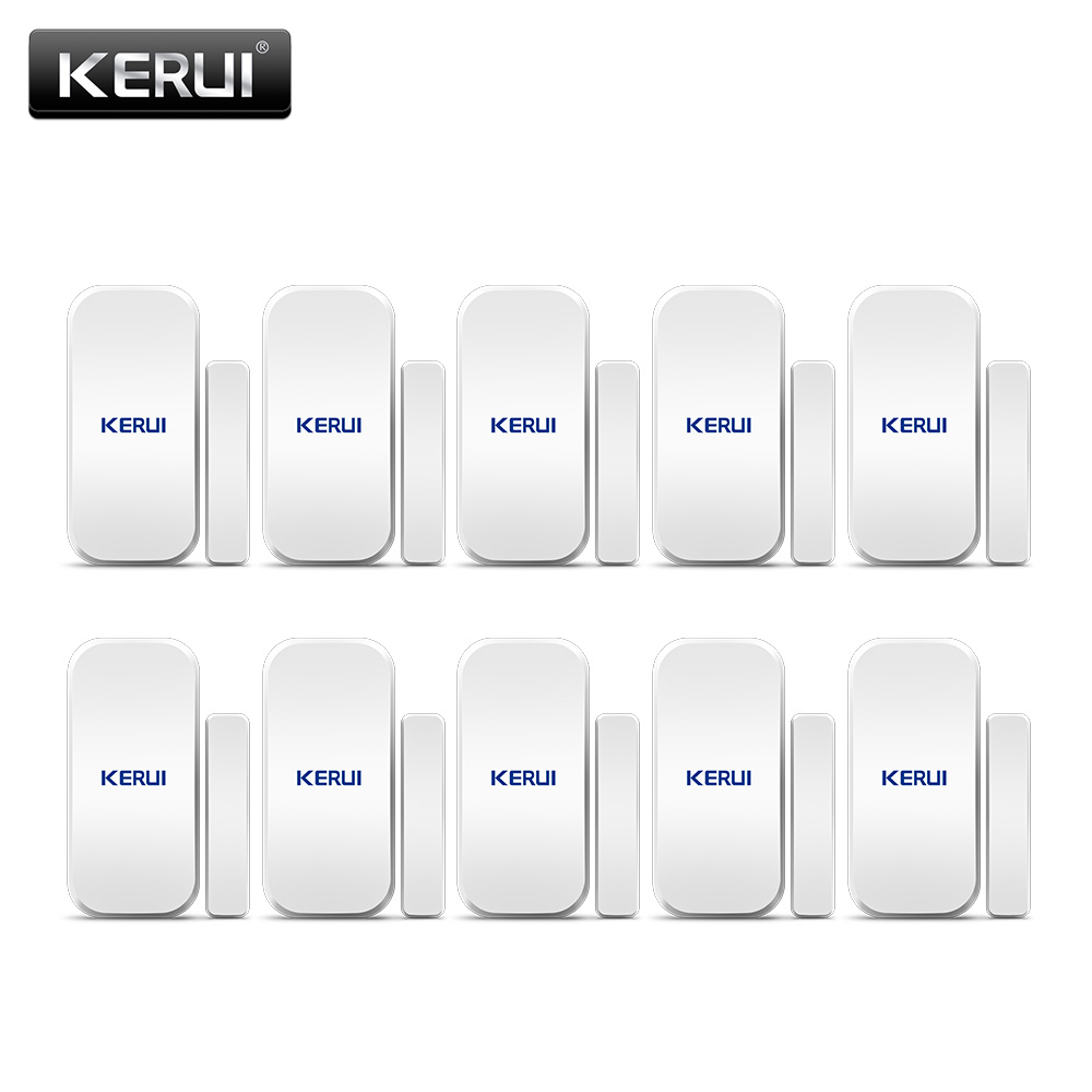 Free shipping 10PCS LOT KERUI Intelligent Wireless Door Gap Window Magnetic Sensor Detector 433MHz For W20