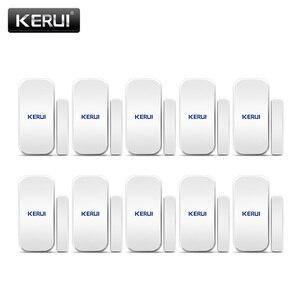 Free shipping 10PCS/LOT KERUI Intelligent Wireless Door Gap Window Magnetic Sensor Detector 433MHz For W20 W193 W18 Alarm System