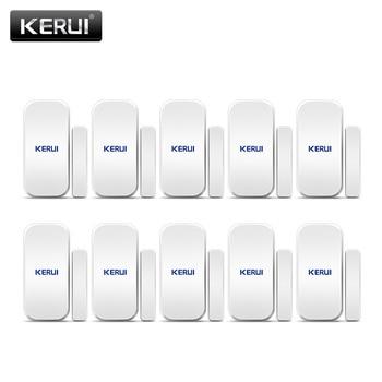 цена на Free shipping 10PCS/LOT KERUI Intelligent Wireless Door Gap Window Magnetic Sensor Detector 433MHz For W20 W193 W18 Alarm System