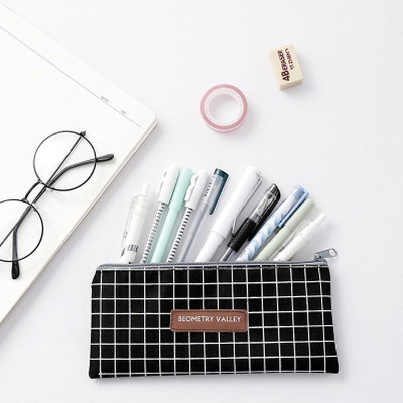 1pcs Canvas Pencil Case Stationery Student Storage Kawaii Bag Novelty Cute Pen Case Pencil Pouch Zipper Pen Bag School Supplies