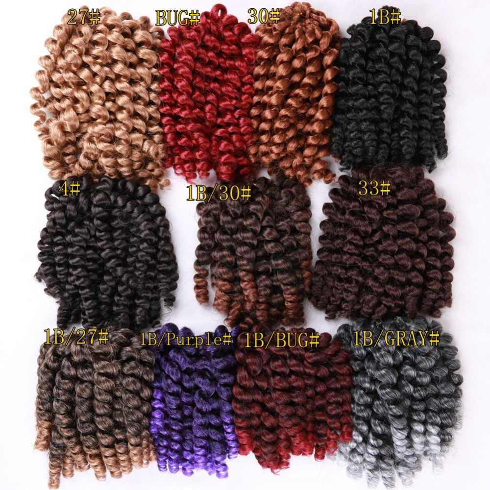 """FAVE 8 """"20strands палочка Curl черный/фиолетовый/красный/серый/коричневый странный крючком Твист плетение волос для Для женщин химическое Комплект"""