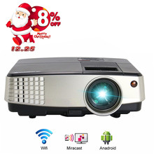 CAIWEI Home Theater Movie LCD LED Projector 1080p HD Android Backyard Portable Video Game HDMI USB Beamer for Smartphone TV PC