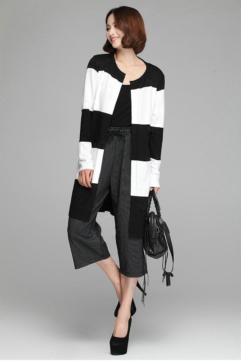 100  [ Ladies Long Black Cardigan ]   Collection Open Cardigan ...