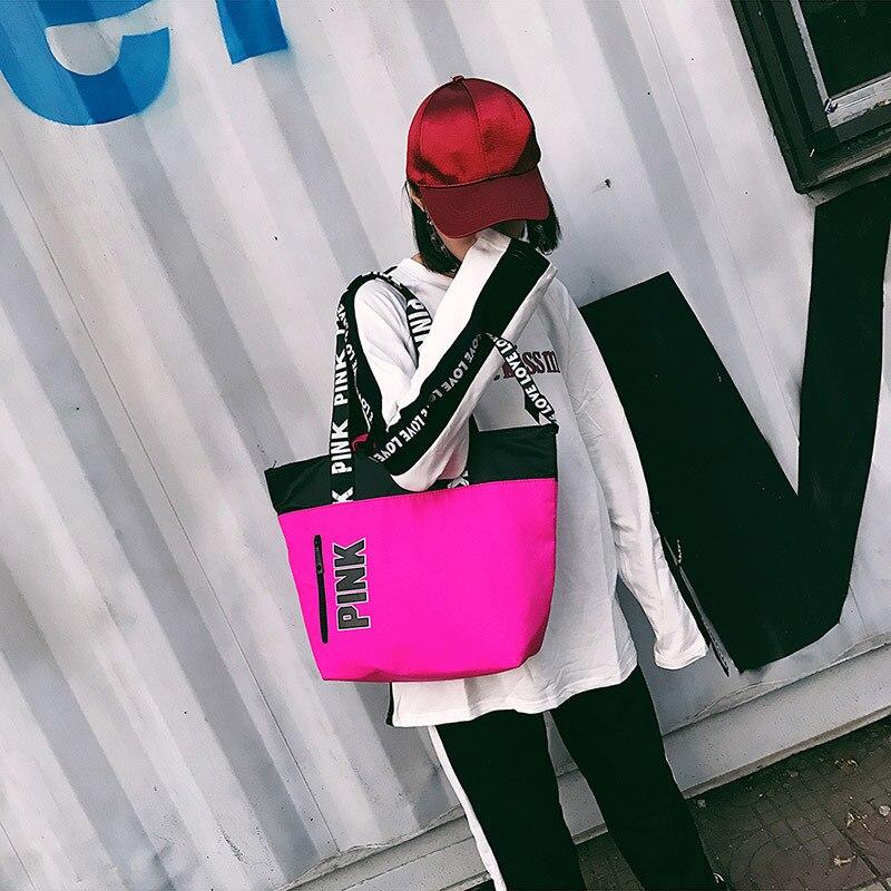 Light Luggage Bag Beach Fitness Purse Canvas Handbag Outdoor Shoulder Gym Bag Sports Women Travel Bag Casual Shopping Bag