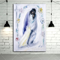 Cheap Price Hand Painted Abstract Jesus Oil Painting On Canvas Handmade Abstract Christian Oil Paints For