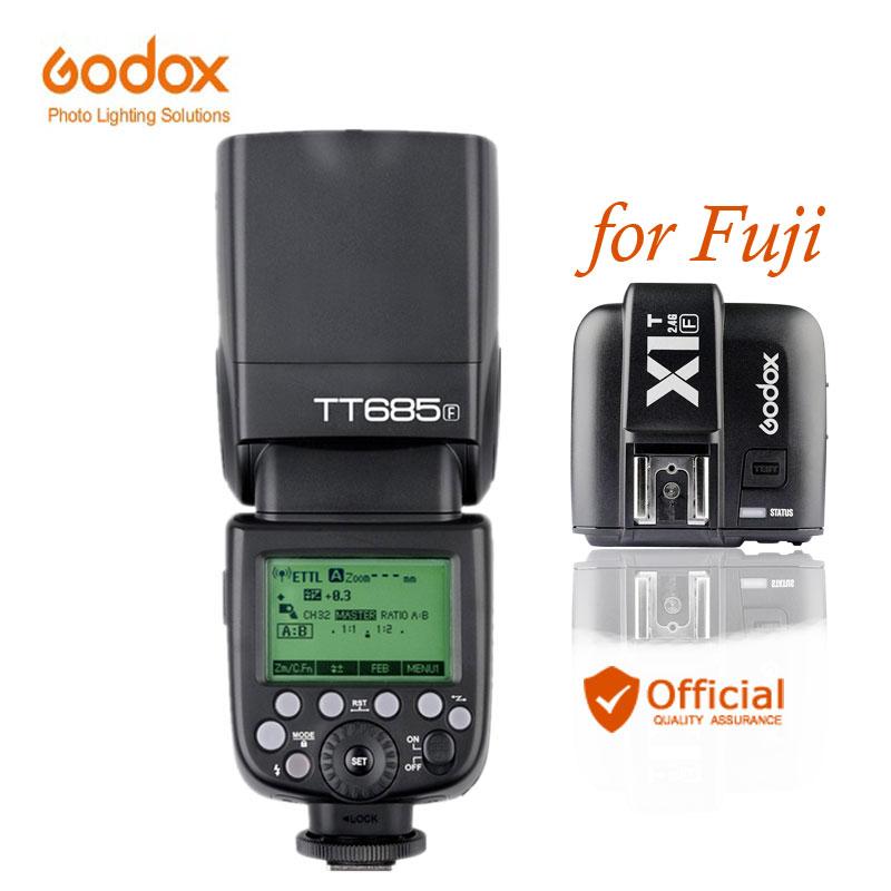 цены Godox TT685F 2.4G Wireless GN60 HSS 1/8000 s TTL Flash Speedlite + X1T-F Trigger for Fujifilm Fuji X-Pro2/X-T20/X-T10/X-T1/X-T2