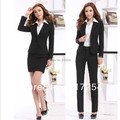 2015 new spring autumn office lady women OL Career Suits business sets women work wear uniform sets plus size xxxl